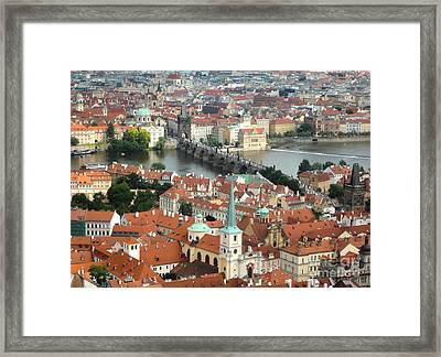 Prague - View From Castle Tower - 03 Framed Print by Gregory Dyer