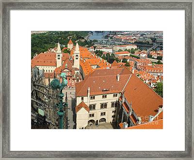 Prague - View From Castle Tower - 04 Framed Print by Gregory Dyer