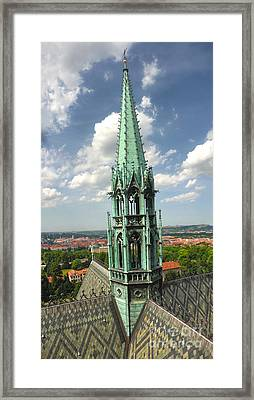 Prague - View From Castle Tower - 07 Framed Print by Gregory Dyer