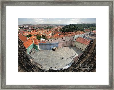 Prague - View From Castle Tower - 08 Framed Print by Gregory Dyer