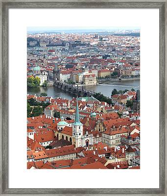 Prague - View From Castle Tower - 10 Framed Print by Gregory Dyer