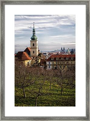 Prague View From The Gardens Framed Print