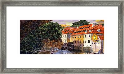 Prague Water Mill Framed Print