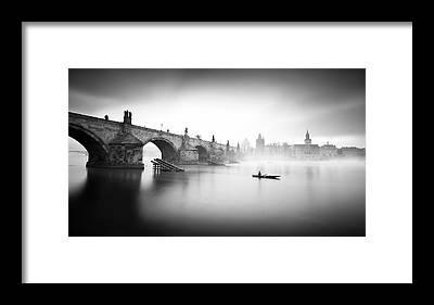 Charles River Framed Prints