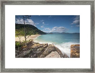 Praia Do Meio Beach In The Afternoon Framed Print by Alex Saberi