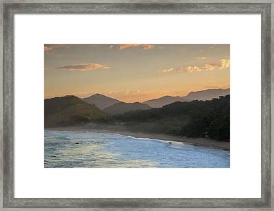 Praia Vermelha Do Centro Surfer Beach Framed Print