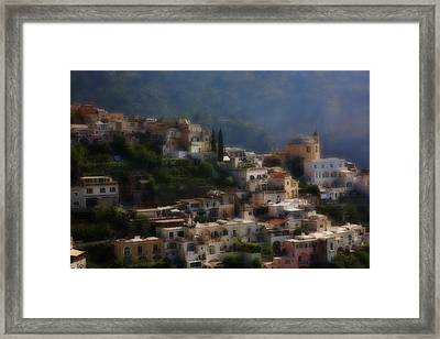 Praiano Amalfi Coast Framed Print by Hugh Smith