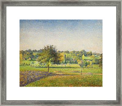 Prairie A Eragny  Framed Print by Celestial Images