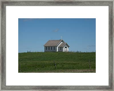 Prairie Church Framed Print