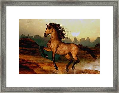 Framed Print featuring the painting Prairie Dancer by Valerie Anne Kelly