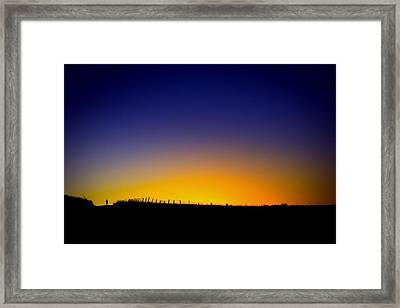 Prairie Dawn Run Framed Print by Geoffrey Baker