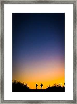Prairie Dawn Ultra Run Framed Print by Geoffrey Baker