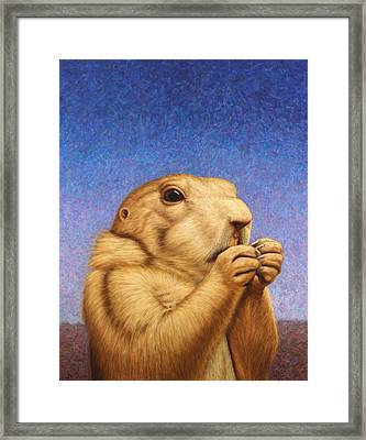 Framed Print featuring the painting Prairie Dog by James W Johnson