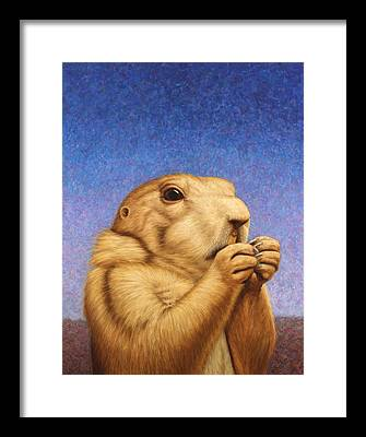 Groundhog Framed Prints