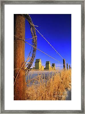 Prairie Grain Elevators Framed Print by Bob Christopher