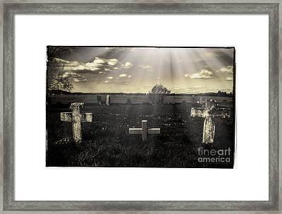 Prairie Graves Framed Print by Jean OKeeffe Macro Abundance Art