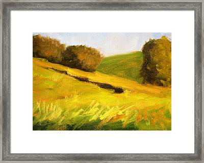 Prairie Hills Framed Print by Nancy Merkle