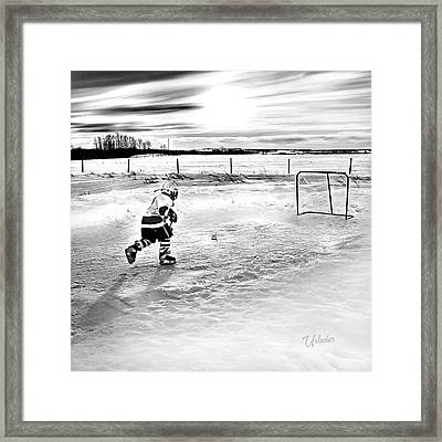Prairie Hockey Framed Print