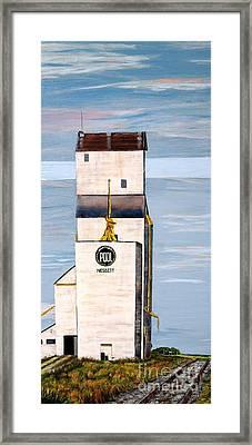 Prairie Icon - Manitoba Pool Elevator Framed Print by Marilyn  McNish