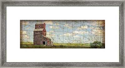 Prairie Panorama Framed Print by Judy Wood