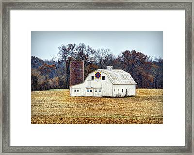 Prairie Queen Quilt Barn Framed Print