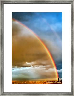 Prairie Rainbow Framed Print by Ellen Heaverlo