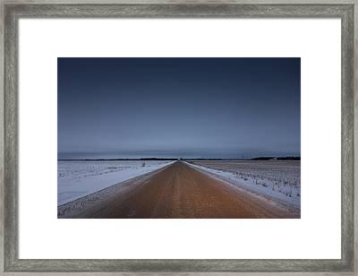 Prairie Road Framed Print by Bryan Scott