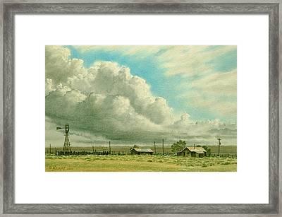 Prairie Sky Framed Print by Paul Krapf