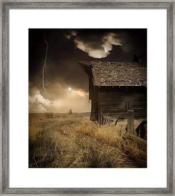 Prairie Storm Framed Print by Pixabay