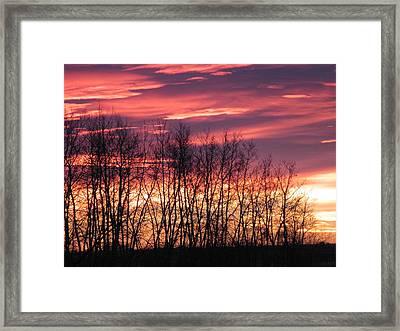 Prairie Sunrise Framed Print by Susan Copley