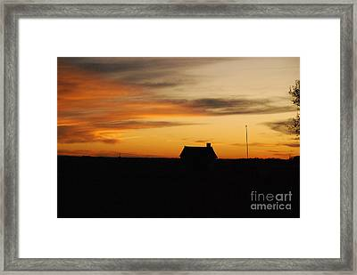 Framed Print featuring the photograph Prairie Sunset by Mary Carol Story