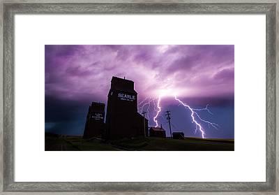Prairie Tempest Framed Print by Ian MacDonald