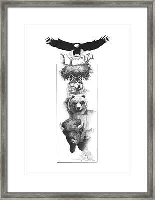 Prairie Totem Framed Print by Paul Shafranski