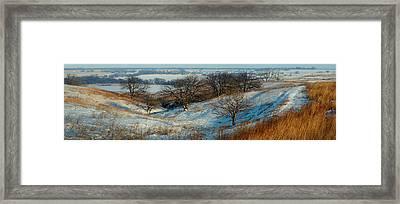 Prairie Winter Framed Print by Bruce Morrison