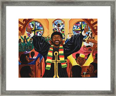 Praise Him Framed Print by Lawrence Childress