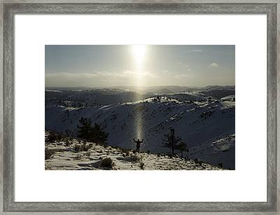 Praise In The Snowies Framed Print by Aaron Bedell