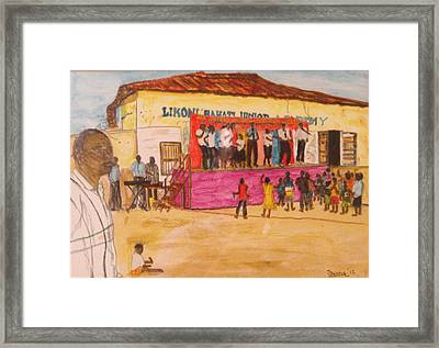 Praisin The Lord In Kenya Framed Print
