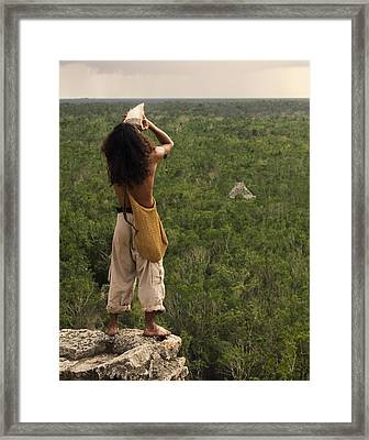 Praising The Gods Framed Print by Adam Romanowicz