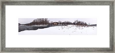 Prallsville Mills And Waterfalls - Stockton New Jersey Panorama Framed Print