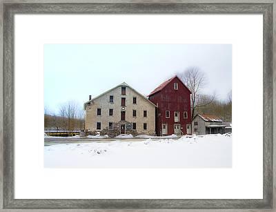Prallsville Mills At Stockton Framed Print by Bill Cannon
