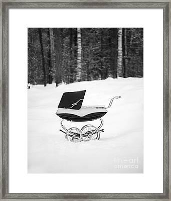 Pram In The Snow Framed Print by Edward Fielding