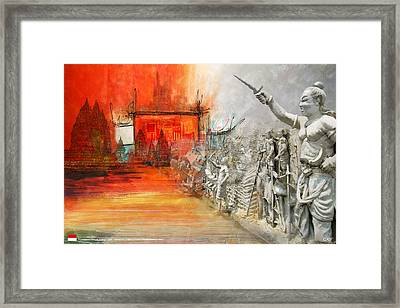 Prambanan Temple Compounds Framed Print by Ctaf