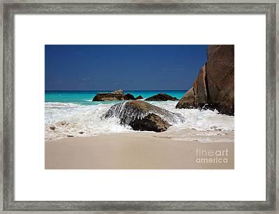 Praslin Island Waves Framed Print