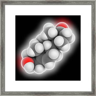 Prasterone Hormone Molecule Framed Print by Laguna Design