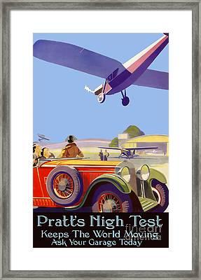 Pratt's High Test Vintage Advertisment Framed Print