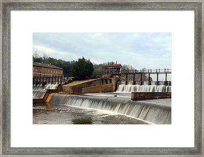 Framed Print featuring the photograph Prattville Dam Prattville Alabama by Charles Beeler