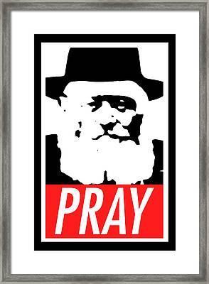 Pray Framed Print by Anshie Kagan