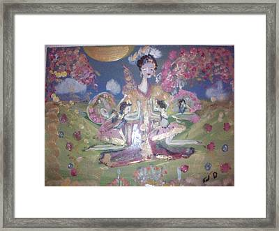 Framed Print featuring the painting Pray For Japan by Judith Desrosiers