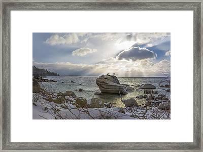 Pray For Snow Framed Print by Jeremy Jensen
