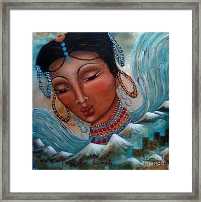 Pray For Tibet Framed Print by Maya Telford